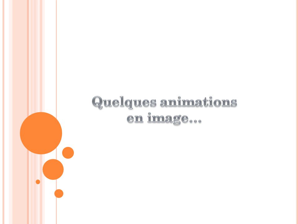 Quelques animations en image…