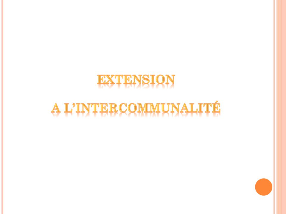 Extension a l'intercommunalité
