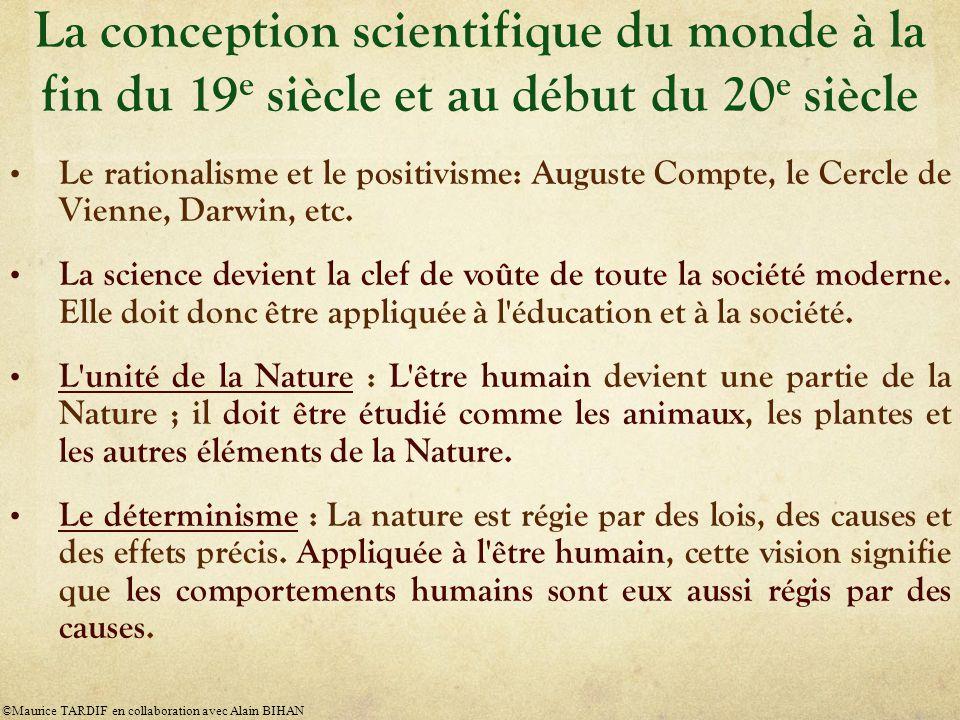 La conception scientifique du monde à la fin du 19e siècle et au début du 20e siècle