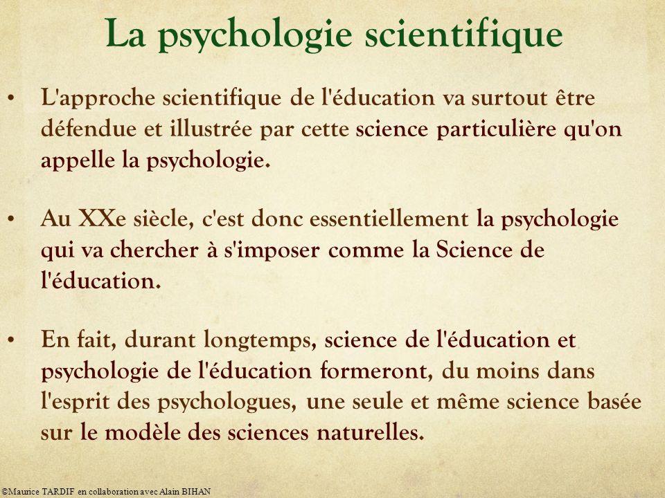 La psychologie scientifique