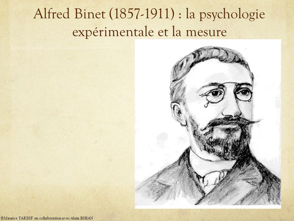 Alfred Binet (1857-1911) : la psychologie expérimentale et la mesure