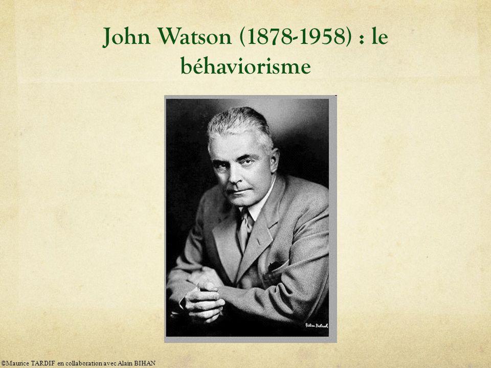 John Watson (1878-1958) : le béhaviorisme