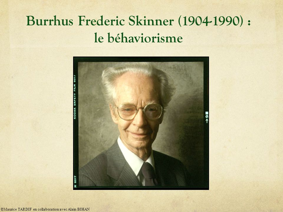 Burrhus Frederic Skinner (1904-1990) : le béhaviorisme