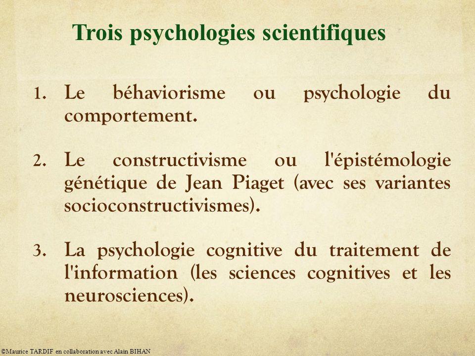 Trois psychologies scientifiques