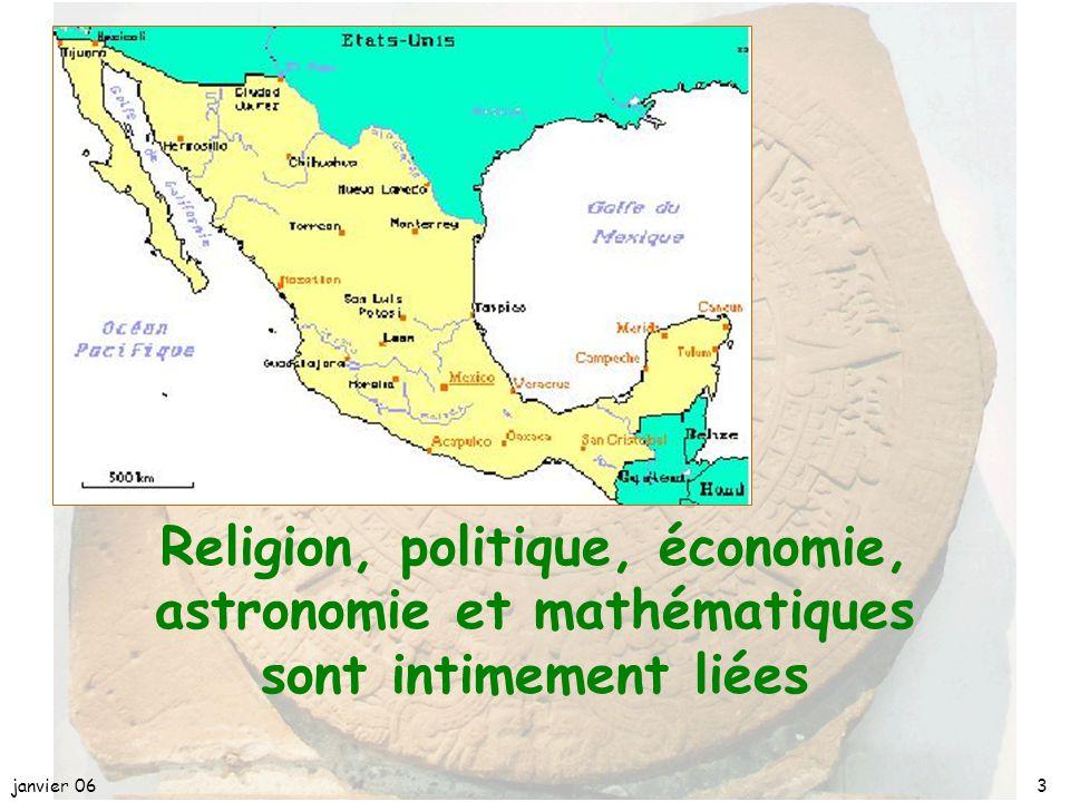 avril 17 Religion, politique, économie, astronomie et mathématiques sont intimement liées. janvier 06.