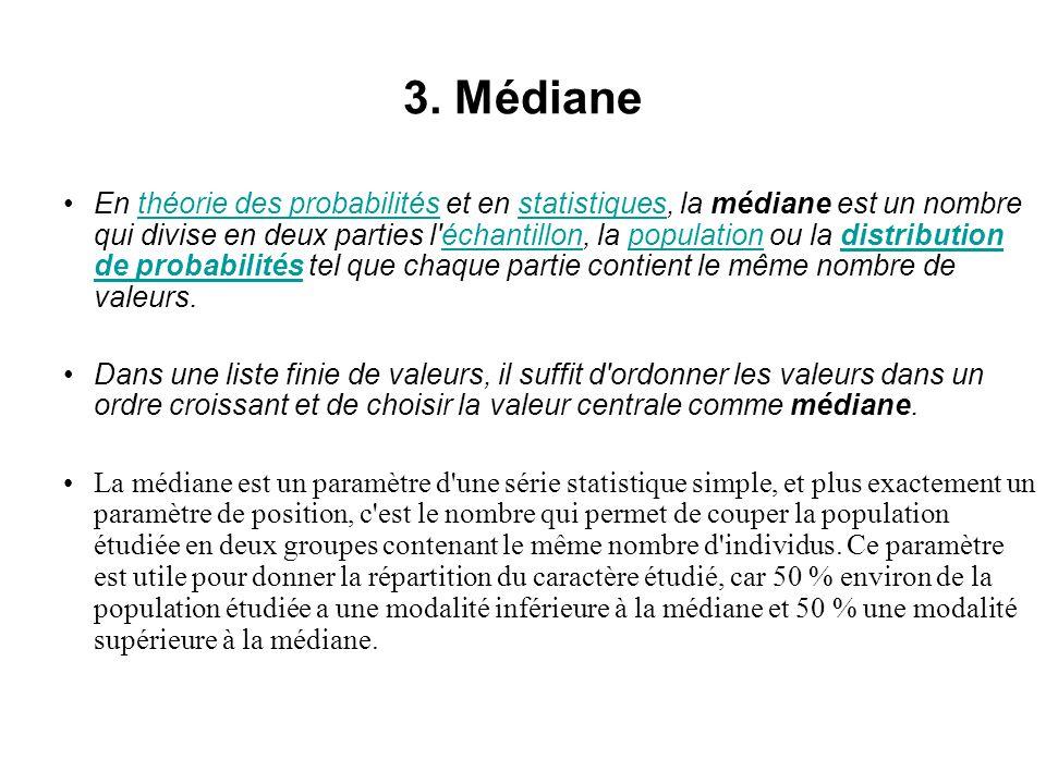 3. Médiane