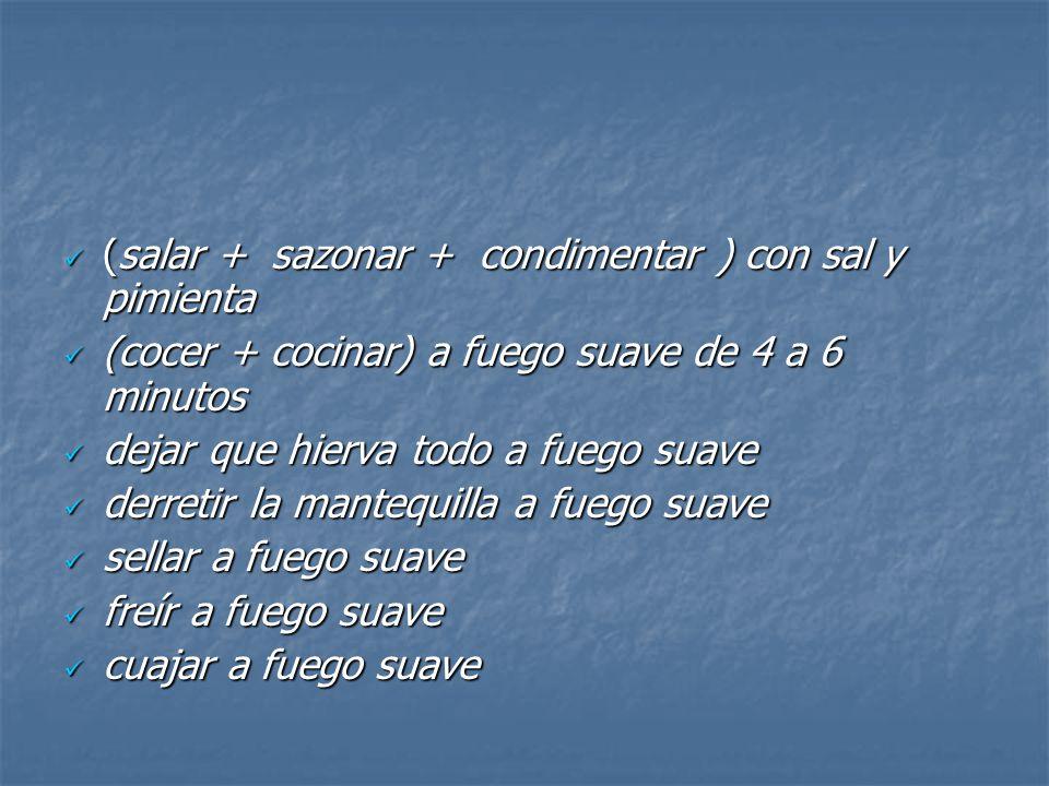 (salar + sazonar + condimentar ) con sal y pimienta