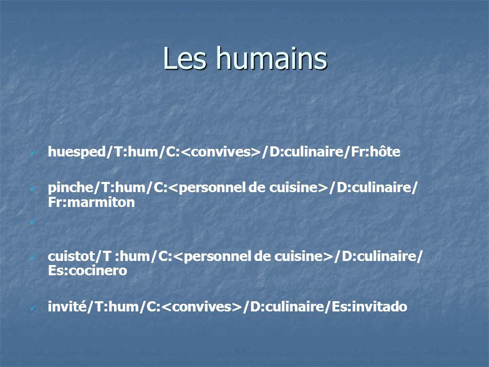 Les humains huesped/T:hum/C:<convives>/D:culinaire/Fr:hôte
