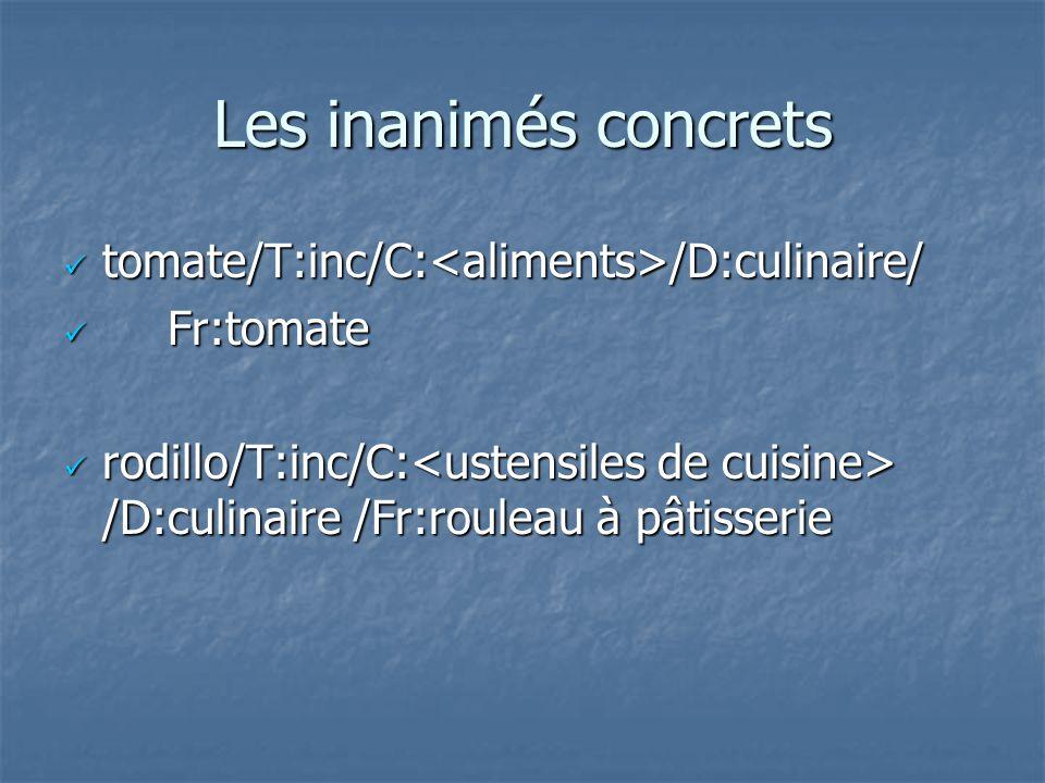 Les inanimés concrets tomate/T:inc/C:<aliments>/D:culinaire/