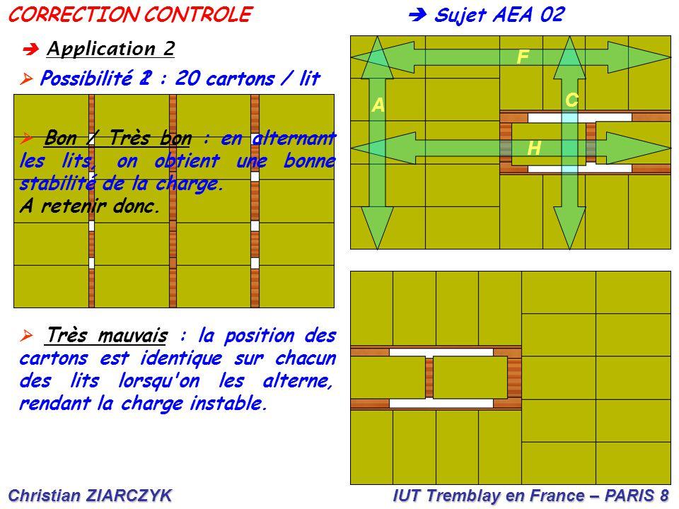 CORRECTION CONTROLE  Sujet AEA 02 F C A A retenir donc. H