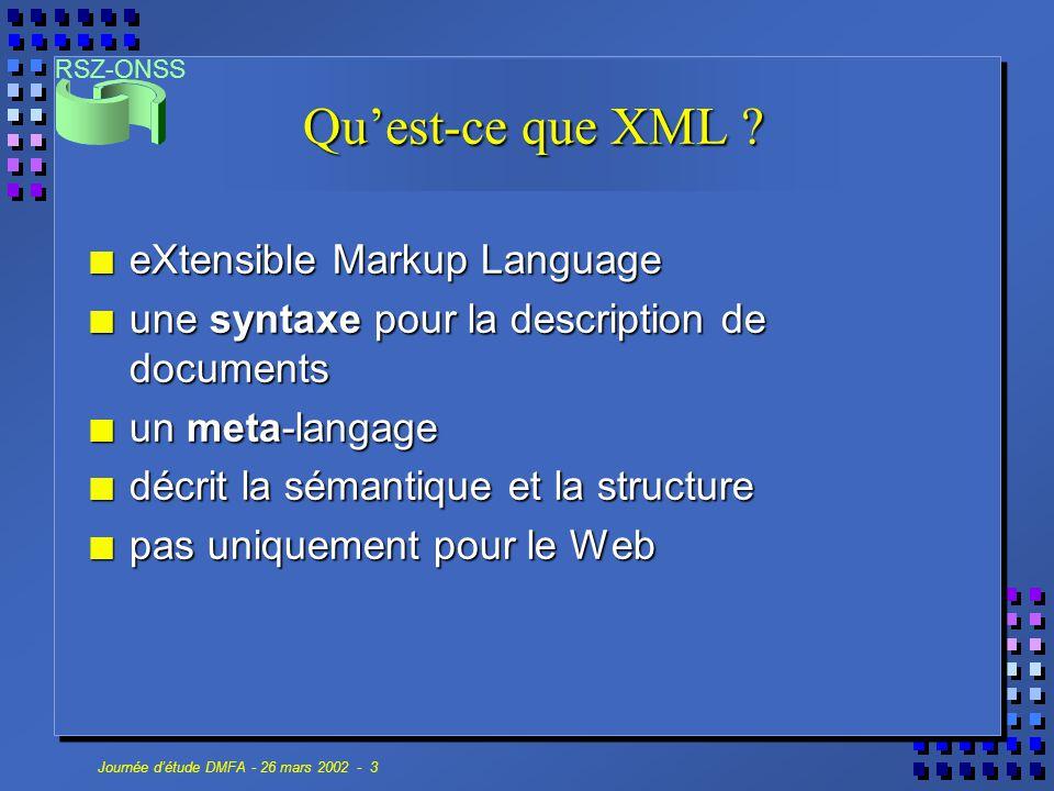 Qu'est-ce que XML eXtensible Markup Language