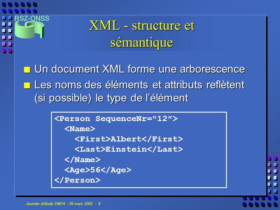 XML - structure et sémantique