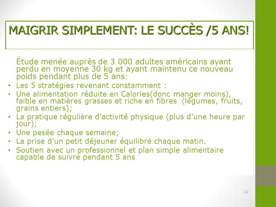 MAIGRIR SIMPLEMENT: LE SUCCÈS /5 ANS!