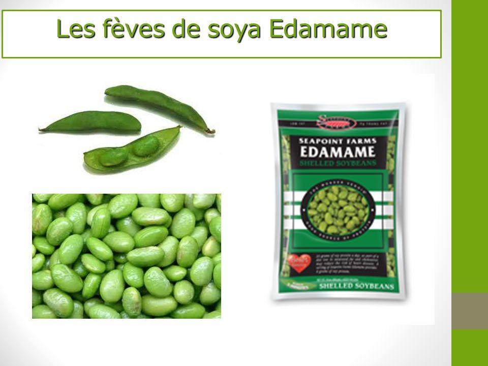 Les fèves de soya Edamame