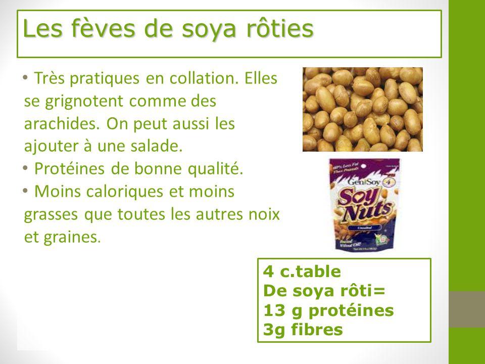 Les fèves de soya rôties