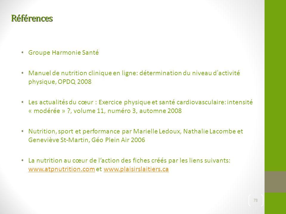 Références Groupe Harmonie Santé