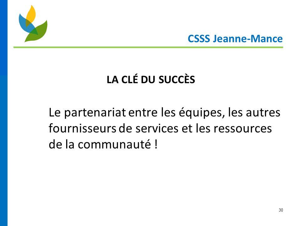 CSSS Jeanne-Mance LA CLÉ DU SUCCÈS