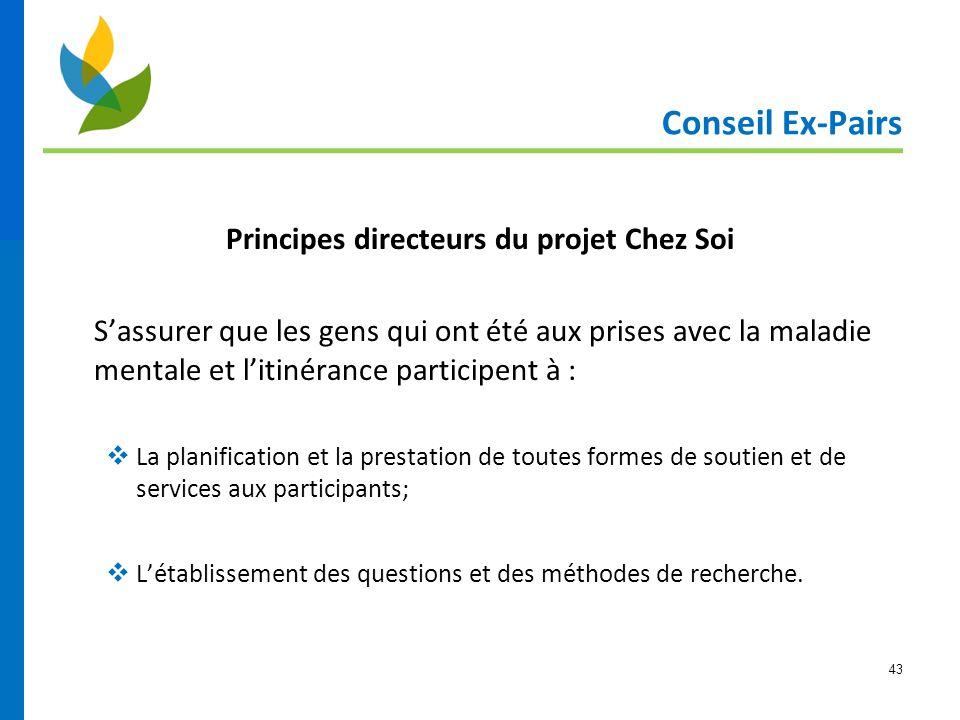 Principes directeurs du projet Chez Soi