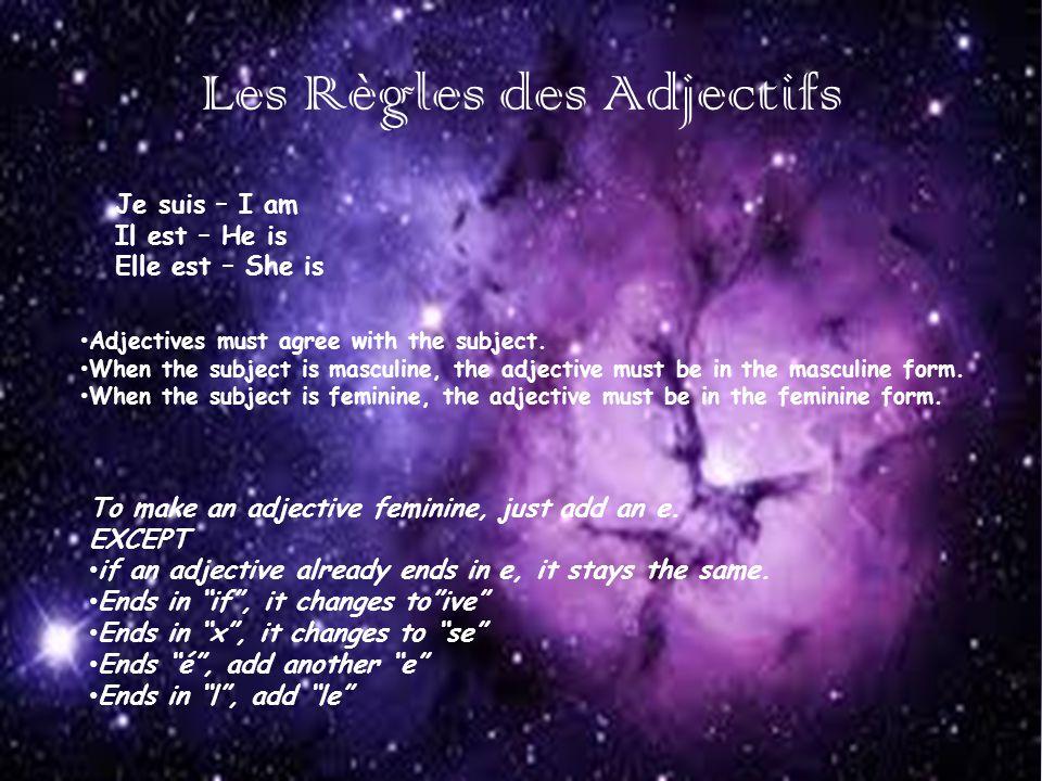 Les Règles des Adjectifs