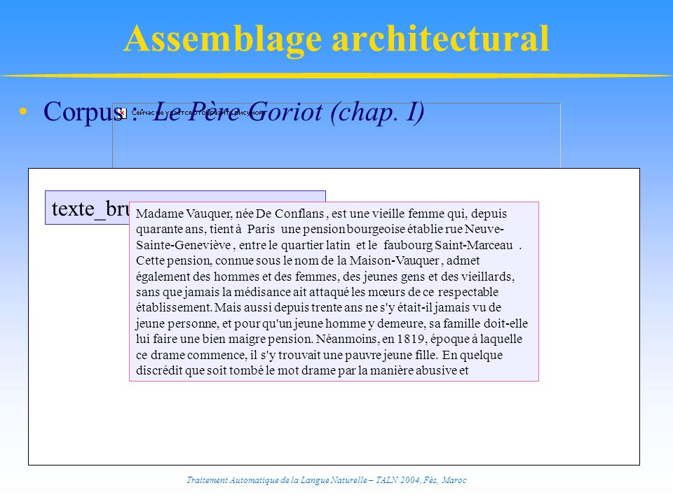 Assemblage architectural
