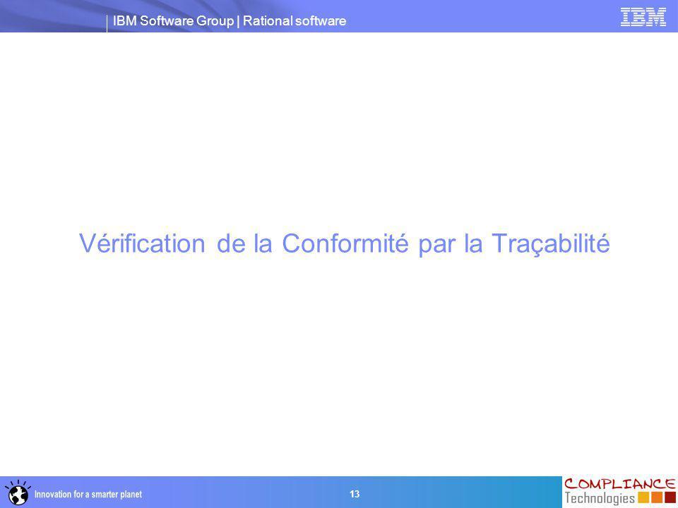 Vérification de la Conformité par la Traçabilité