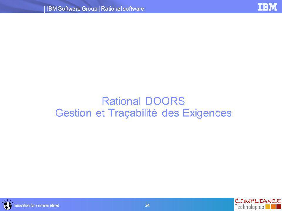 Rational DOORS Gestion et Traçabilité des Exigences