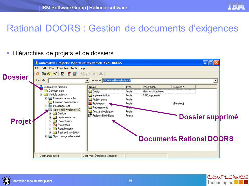 Rational DOORS : Gestion de documents d'exigences