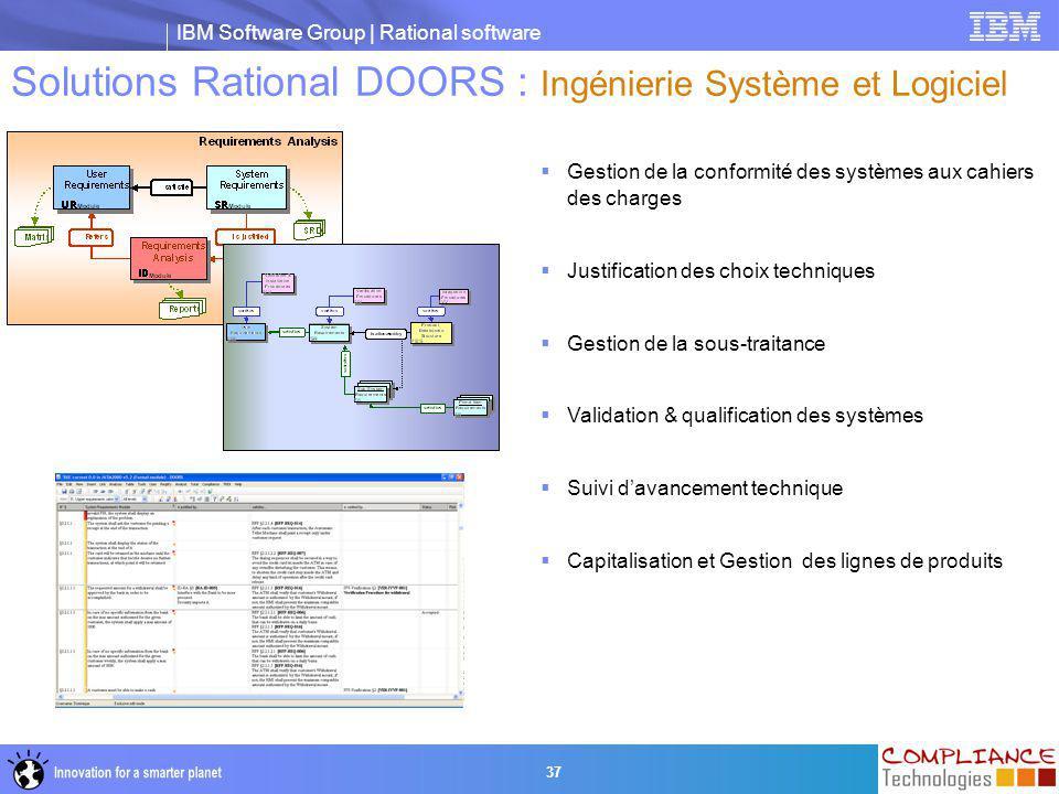 Solutions Rational DOORS : Ingénierie Système et Logiciel