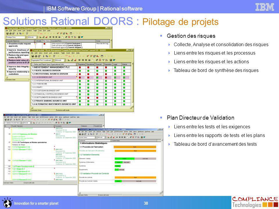 Solutions Rational DOORS : Pilotage de projets