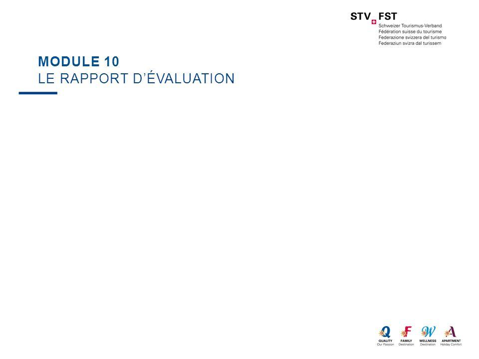 Module 10 Le rapport d'évaluation