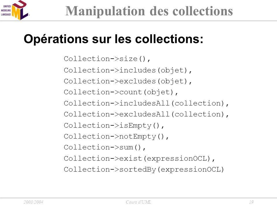 Manipulation des collections
