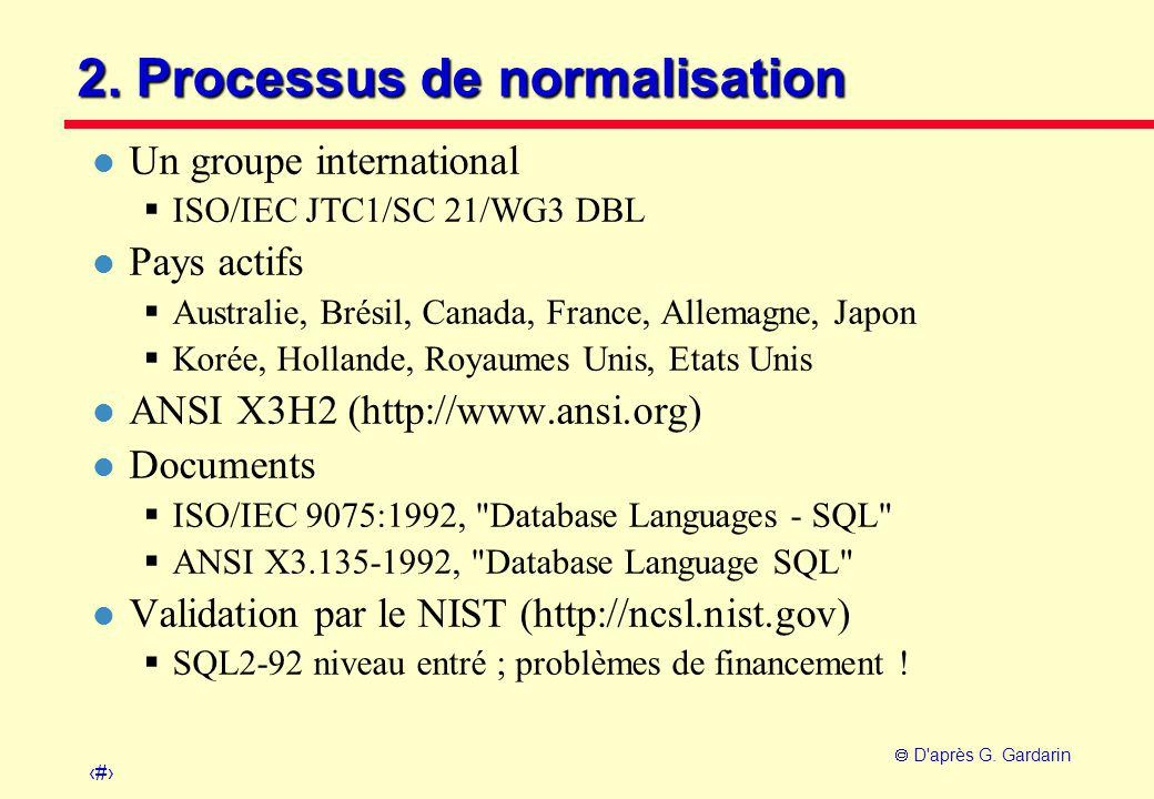 2. Processus de normalisation