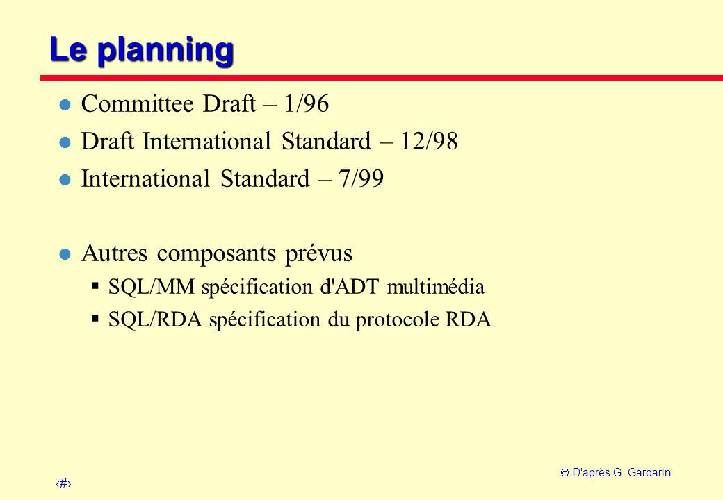 Le planning Committee Draft – 1/96