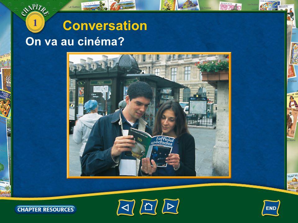Conversation On va au cinéma