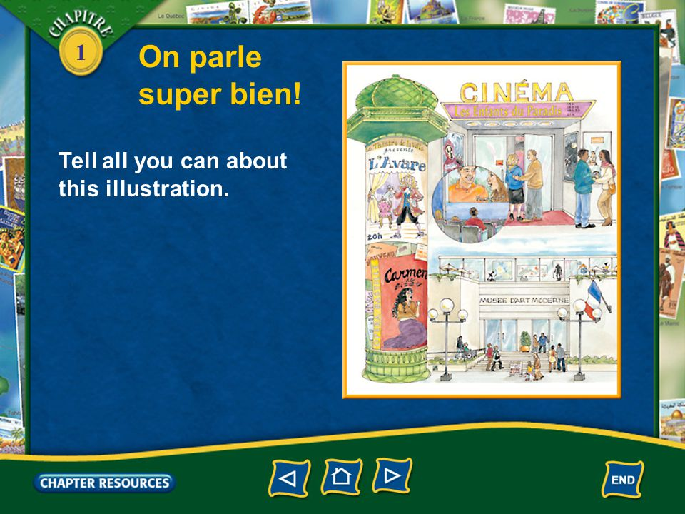 On parle super bien! Tell all you can about this illustration.