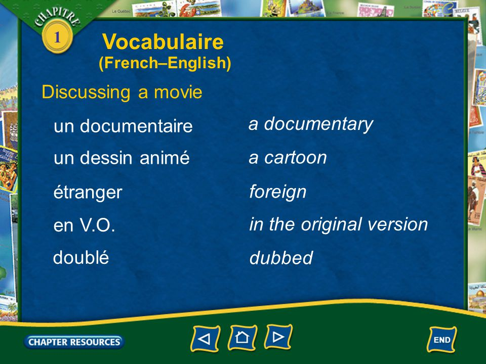Vocabulaire Discussing a movie a documentary un documentaire