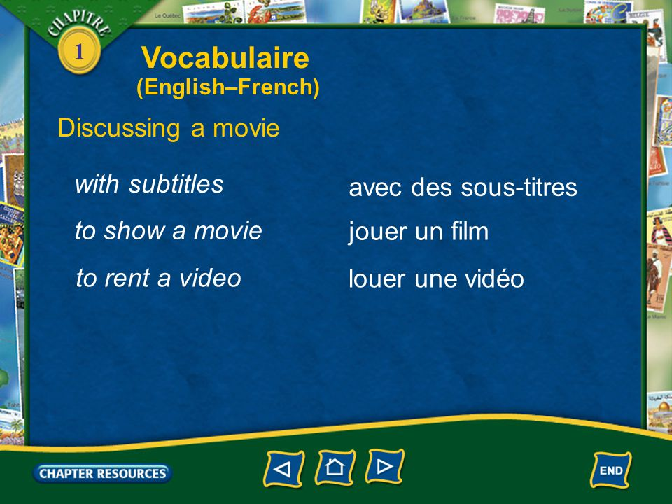 Vocabulaire Discussing a movie with subtitles avec des sous-titres