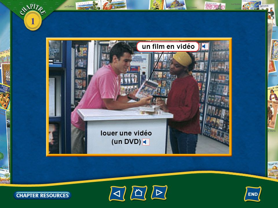 louer une vidéo (un DVD)
