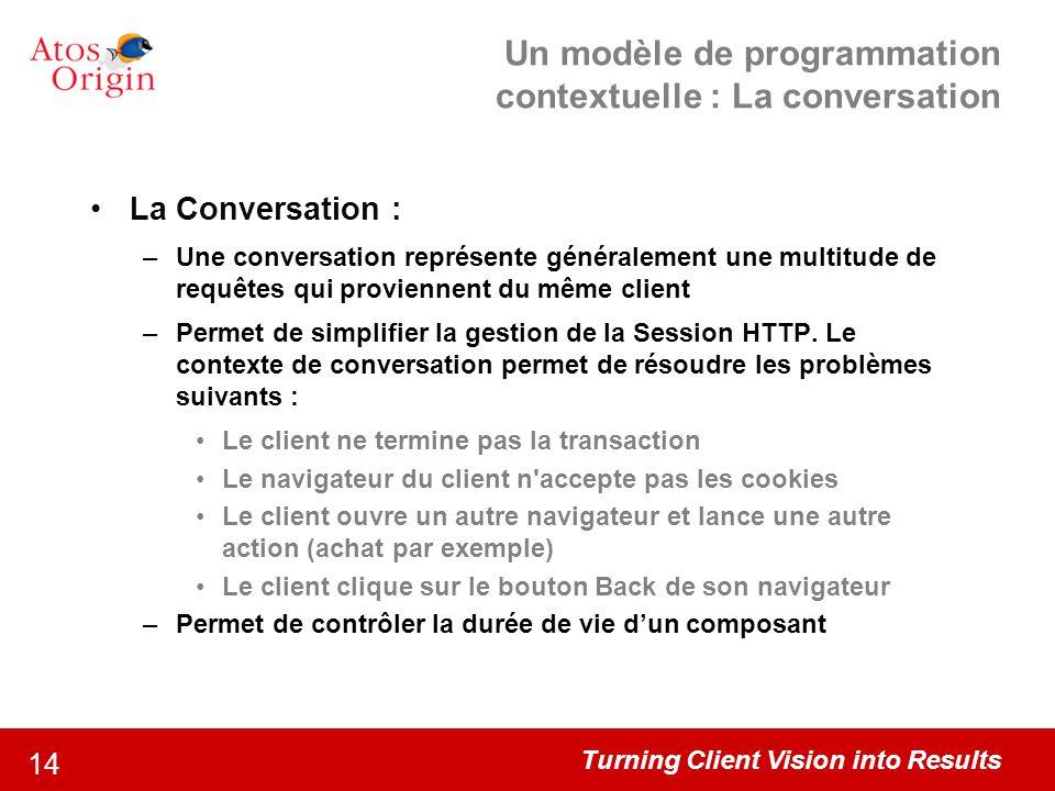 Un modèle de programmation contextuelle : La conversation