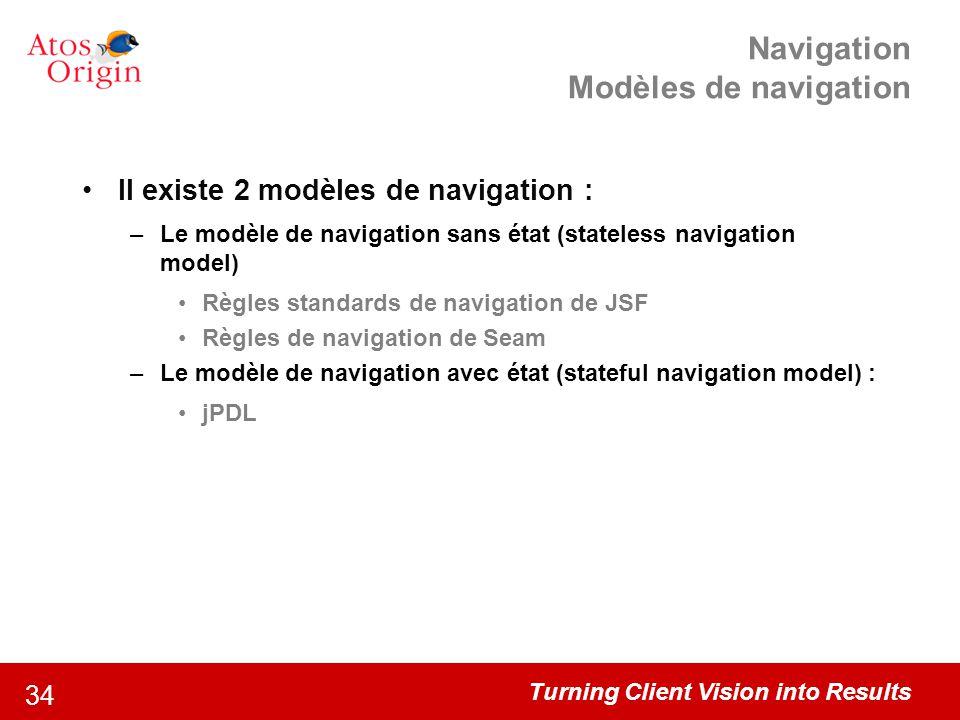 Navigation Modèles de navigation
