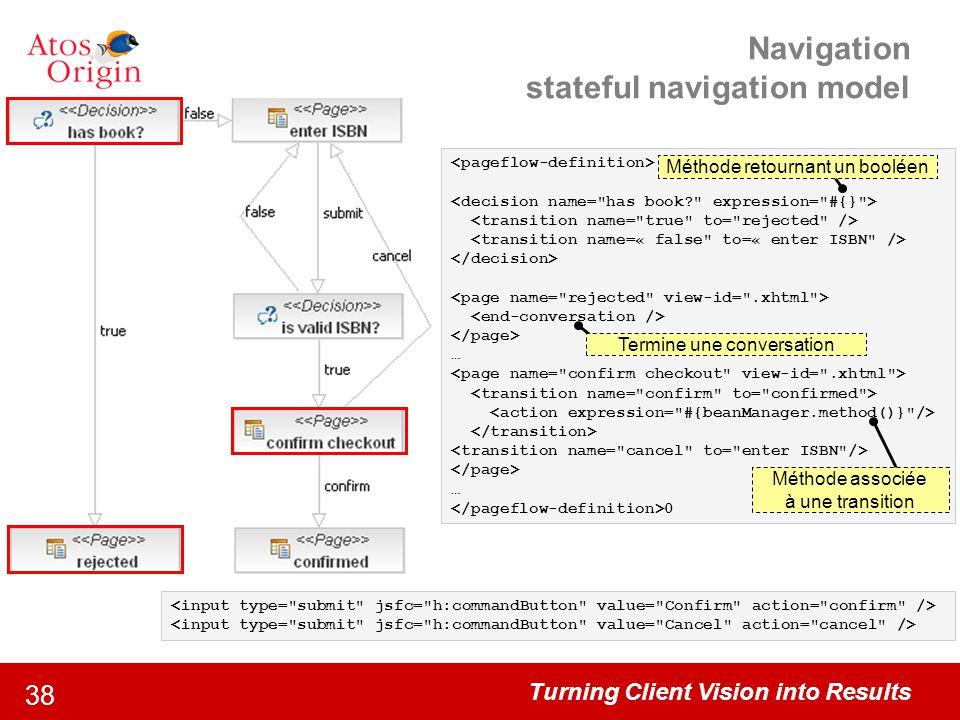 Navigation stateful navigation model