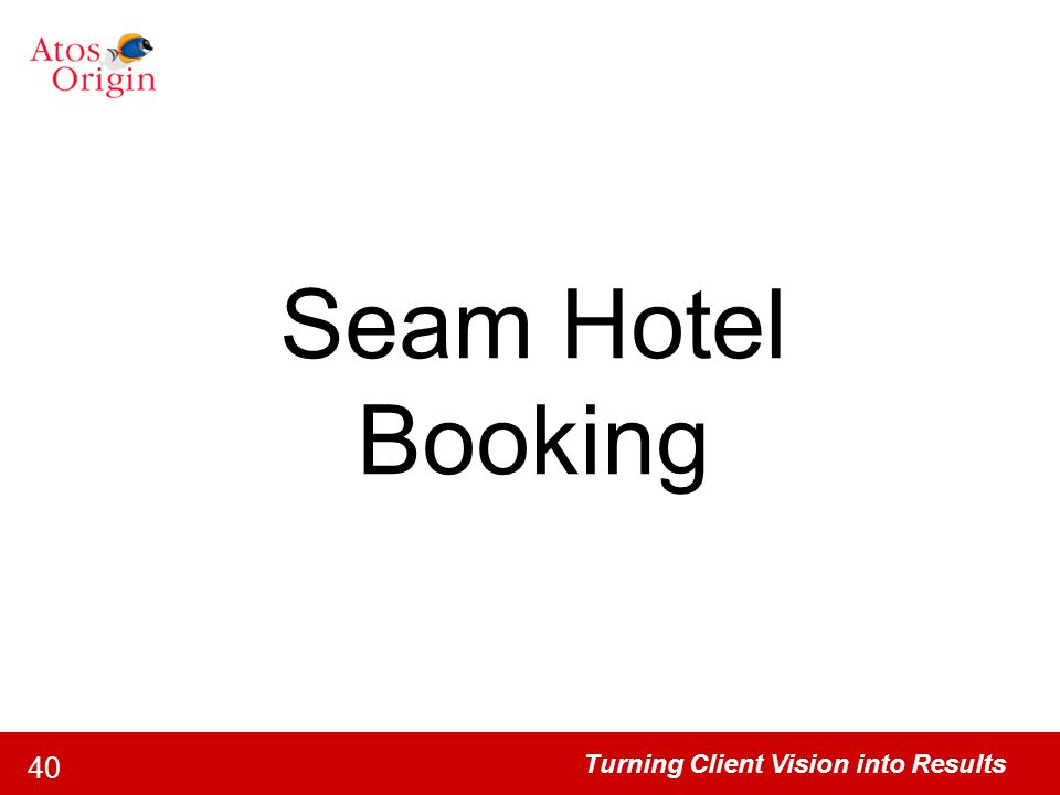 Seam Hotel Booking