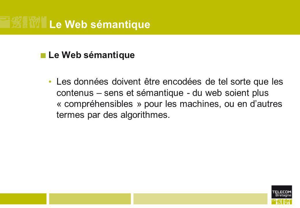 Le Web sémantique Le Web sémantique