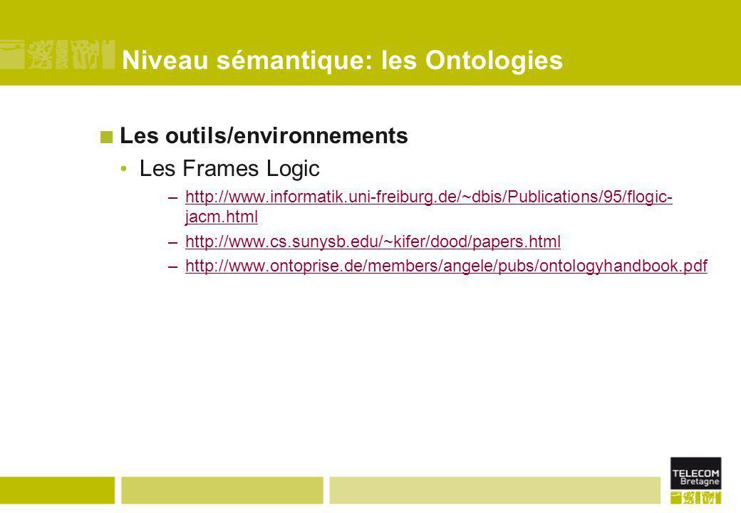 Niveau sémantique: les Ontologies