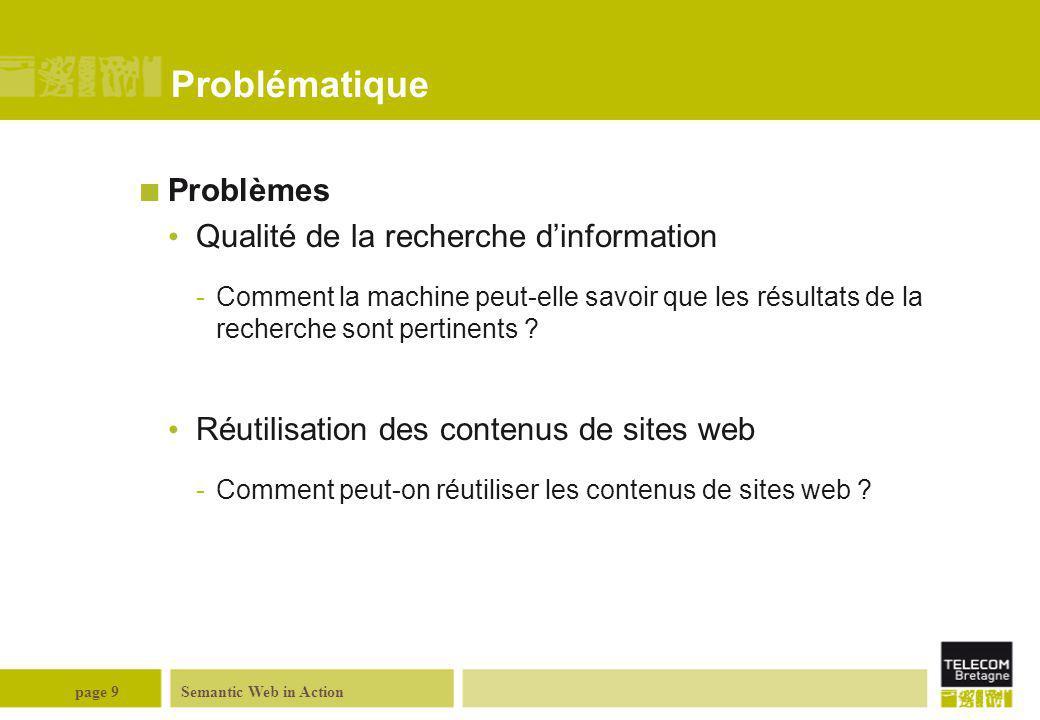 Problématique Problèmes Qualité de la recherche d'information