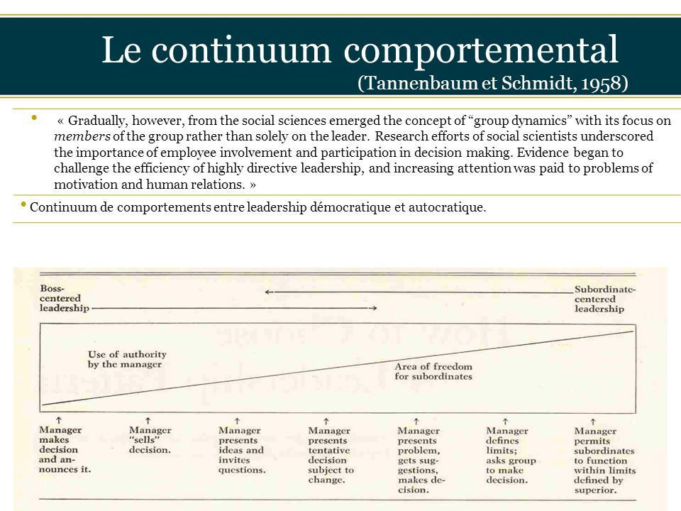 Le continuum comportemental