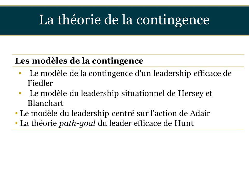 La théorie de la contingence