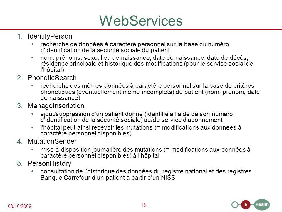 WebServices IdentifyPerson PhoneticSearch ManageInscription