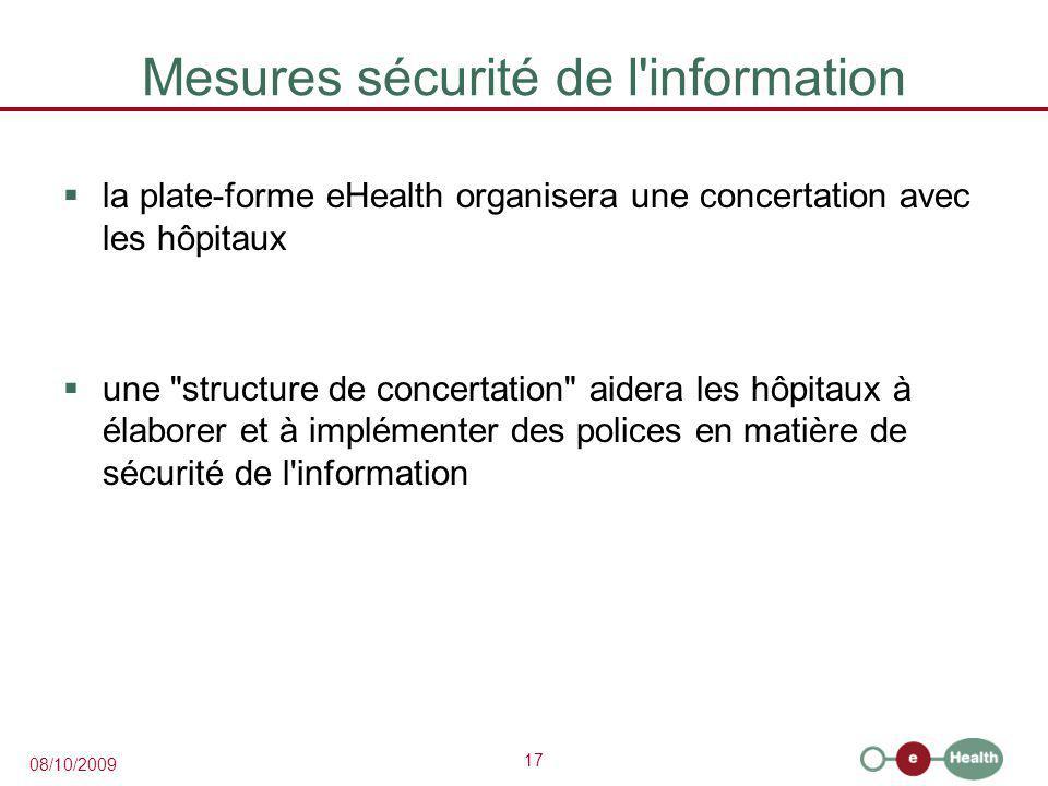 Mesures sécurité de l information