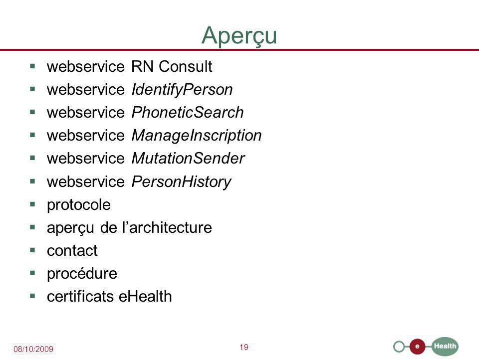 Aperçu webservice RN Consult webservice IdentifyPerson